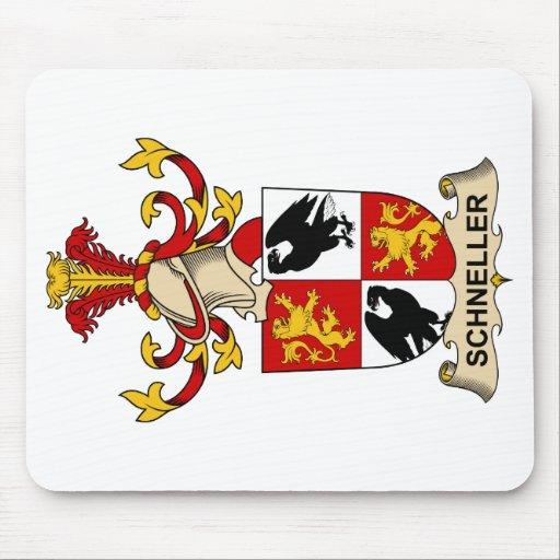 Escudo de la familia de Schneller Tapete De Raton