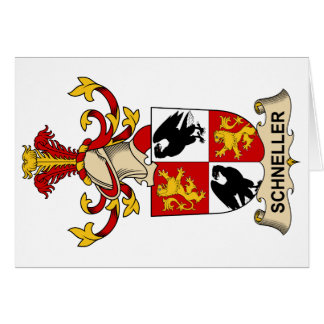 Escudo de la familia de Schneller Tarjeta De Felicitación