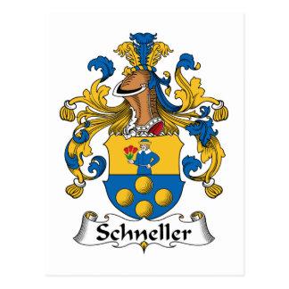 Escudo de la familia de Schneller Tarjetas Postales
