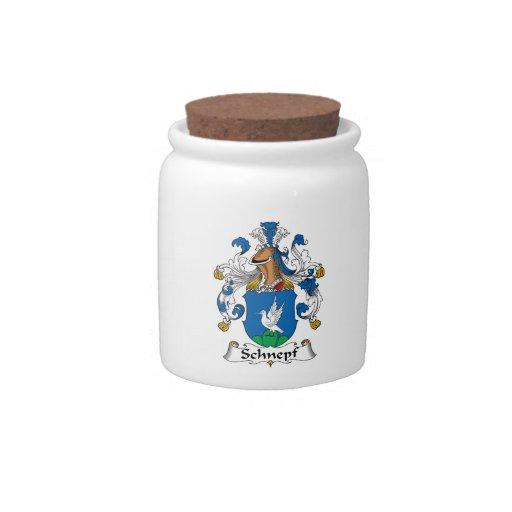Escudo de la familia de Schnepf Tarro De Cerámica Para Dulces