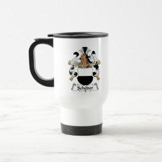 Escudo de la familia de Schoder Tazas De Café