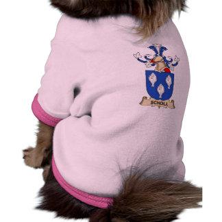 Escudo de la familia de Scholl Camisa De Perrito