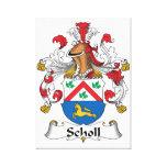 Escudo de la familia de Scholl Impresiones En Lona