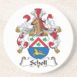 Escudo de la familia de Scholl Posavasos Para Bebidas