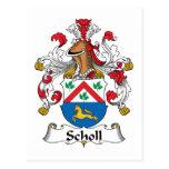 Escudo de la familia de Scholl Postal