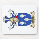 Escudo de la familia de Scholl Alfombrilla De Ratones