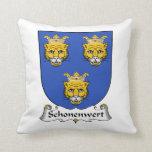 Escudo de la familia de Schonenwert Cojines