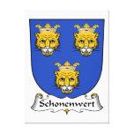 Escudo de la familia de Schonenwert Impresion De Lienzo