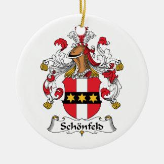 Escudo de la familia de Schonfeld Ornamento Para Reyes Magos