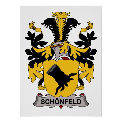 Escudo de la familia de Schonfeld Póster