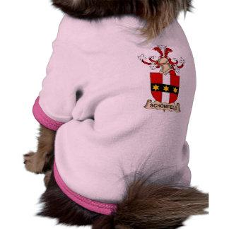 Escudo de la familia de Schönfeld Camisa De Mascota