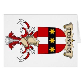 Escudo de la familia de Schönfeld Tarjeta De Felicitación