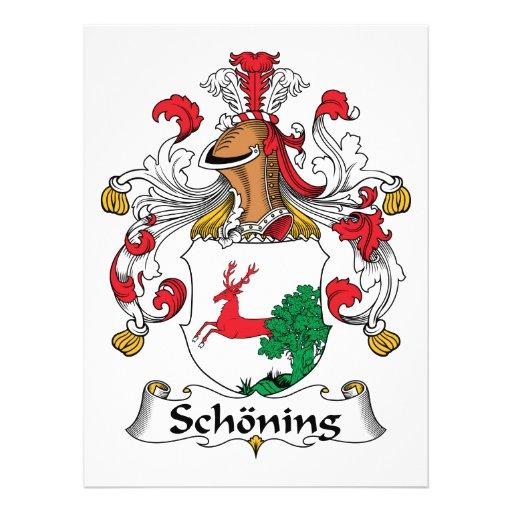 Escudo de la familia de Schoning Anuncio Personalizado