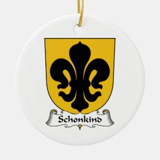 Escudo de la familia de Schonkind Adorno Redondo De Cerámica