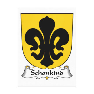 Escudo de la familia de Schonkind Impresiones En Lienzo Estiradas