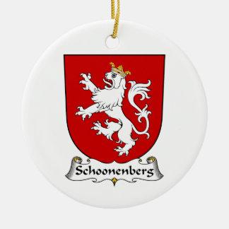 Escudo de la familia de Schoonenberg Adorno Navideño Redondo De Cerámica