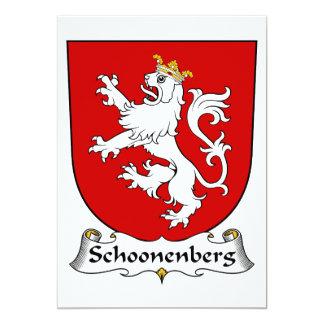 """Escudo de la familia de Schoonenberg Invitación 5"""" X 7"""""""