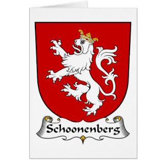 Escudo de la familia de Schoonenberg Tarjeta De Felicitación