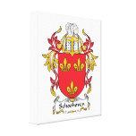 Escudo de la familia de Schoonhoven Lona Envuelta Para Galerías