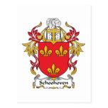 Escudo de la familia de Schoonhoven Postal