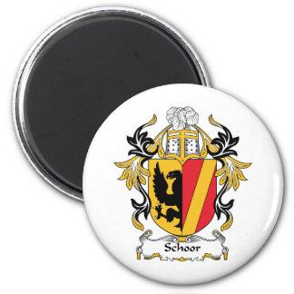 Escudo de la familia de Schoor Imán Redondo 5 Cm