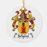 Escudo de la familia de Schorer Ornamento De Navidad