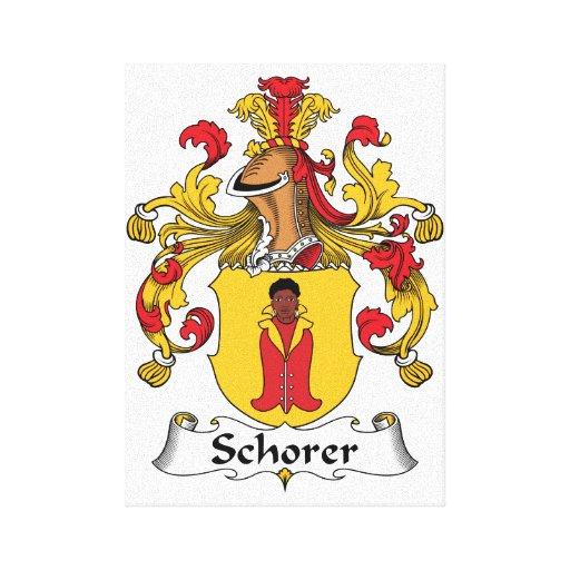 Escudo de la familia de Schorer Impresión De Lienzo