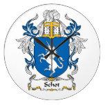 Escudo de la familia de Schot Relojes De Pared