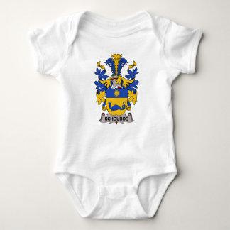 Escudo de la familia de Schouboe Body Para Bebé