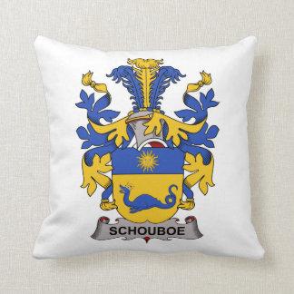 Escudo de la familia de Schouboe Almohadas