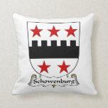 Escudo de la familia de Schowenburg Almohadas