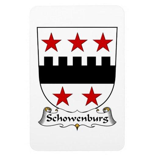Escudo de la familia de Schowenburg Imán De Vinilo