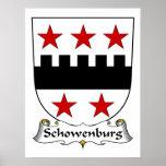Escudo de la familia de Schowenburg Impresiones