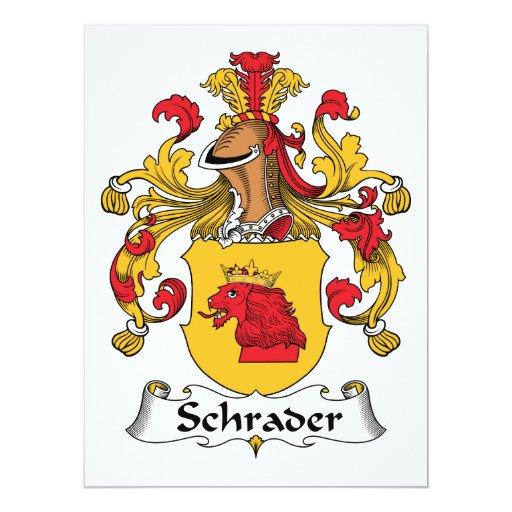 Escudo de la familia de Schrader Invitación 16,5 X 22,2 Cm