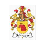 Escudo de la familia de Schrader Lona Envuelta Para Galerias