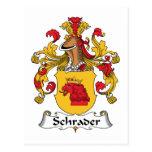 Escudo de la familia de Schrader Postal