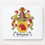 Escudo de la familia de Schrader Alfombrilla De Ratón