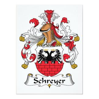 Escudo de la familia de Schreyer Invitación 16,5 X 22,2 Cm