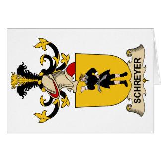 Escudo de la familia de Schreyer Felicitación