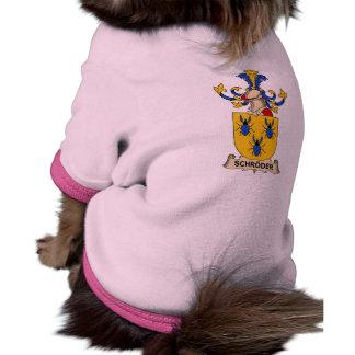 Escudo de la familia de Schröder Camisa De Mascota