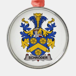 Escudo de la familia de Schroder Ornamentos De Navidad