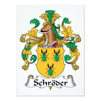 """Escudo de la familia de Schroder Invitación 6.5"""" X 8.75"""""""