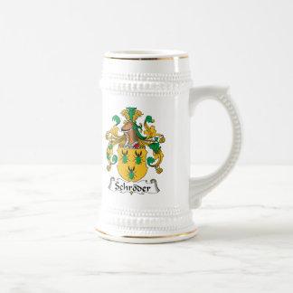Escudo de la familia de Schroder Jarra De Cerveza