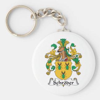Escudo de la familia de Schroder Llavero Redondo Tipo Pin