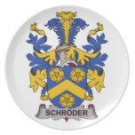 Escudo de la familia de Schroder Platos De Comidas