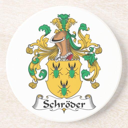 Escudo de la familia de Schroder Posavasos Para Bebidas