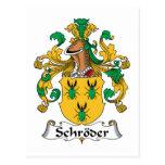 Escudo de la familia de Schroder Postales