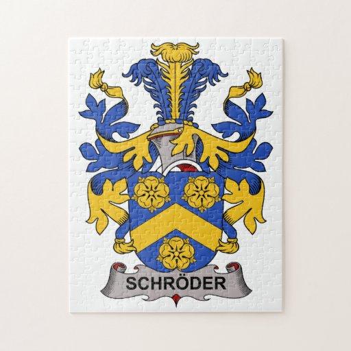 Escudo de la familia de Schroder Puzzle
