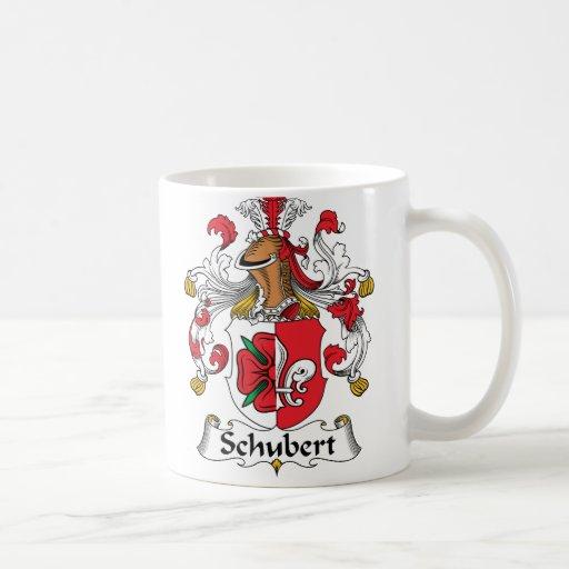 Escudo de la familia de Schubert Taza Básica Blanca