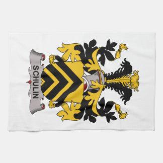 Escudo de la familia de Schulin Toalla De Cocina